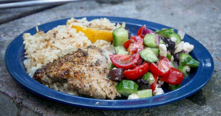 Dutch Lovin': Greek Chicken and Rice